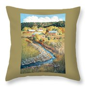Acequia Del Llano Throw Pillow