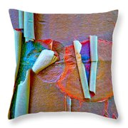 Acer Griseum Abstract Bark Throw Pillow