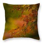 Acer Jewels Throw Pillow