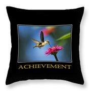 Achievement  Inspirational Motivational Poster Art Throw Pillow by Christina Rollo