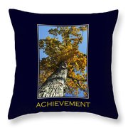 Achievement Inspirational Poster Art Throw Pillow by Christina Rollo