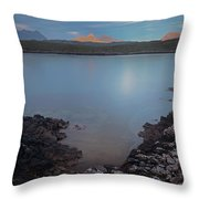 Achnahaird Bay And Assynt Mountains Throw Pillow