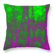 Acid Forest Throw Pillow