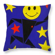Acid Jazz Throw Pillow by Oliver Johnston