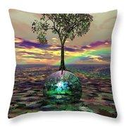 Acid Tree Throw Pillow