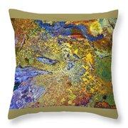 Acid Vs Texture Throw Pillow