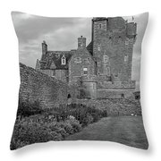 Ackergill Tower 1173 Bw  Throw Pillow