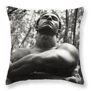 Acolyte In The Cathedral Of Trees Throw Pillow