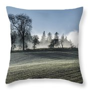 Acomb Misty Day Throw Pillow