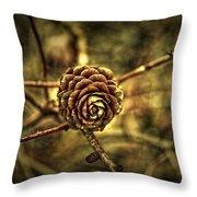 Single Tree Cone At Dusk Throw Pillow