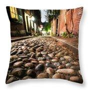 Acorn Street Cobblestone Detail Boston Ma Throw Pillow