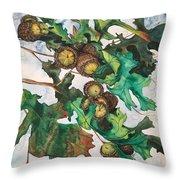 Acorns On An Oak  Throw Pillow