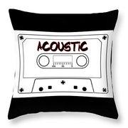 Acoustic Music Tape Cassette Throw Pillow