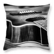 Acoustic Noir Throw Pillow