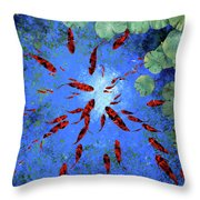 Acqua Azzurra Throw Pillow