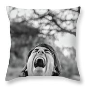 Acream Throw Pillow