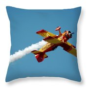 Acrobat Blue Throw Pillow
