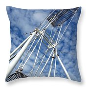 Acrobatics Equipment With Two Wheels Throw Pillow