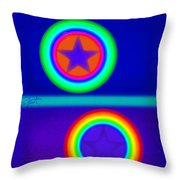 Acrobats Blue Throw Pillow