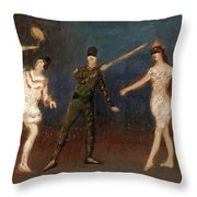 Acrobats Throw Pillow
