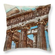 Acropolis I Throw Pillow