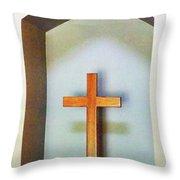 Across A Cross Throw Pillow
