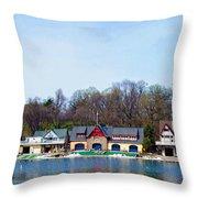 Across From Boathouse Row - Philadelphia Throw Pillow