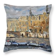 Across  From The Louve Throw Pillow