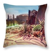 Across Monument Valley Throw Pillow