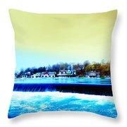 Across The Dam To Boathouse Row. Throw Pillow