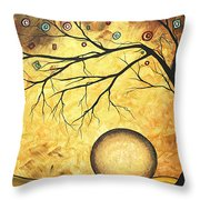Across The Golden River By Madart Throw Pillow
