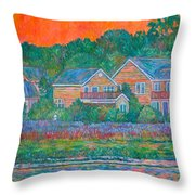 Across The Marsh At Pawleys Island       Throw Pillow