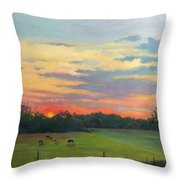 Across The Pasture Throw Pillow