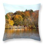 Across The Pond Throw Pillow