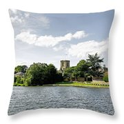 Across The Pool At Melbourne Hall Throw Pillow