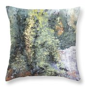 Across The Ravine Throw Pillow