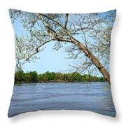 Across The Wide Missouri Throw Pillow
