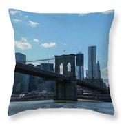Across To Manhattan New York New York Throw Pillow