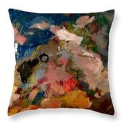 Acryl Color Abstract Throw Pillow