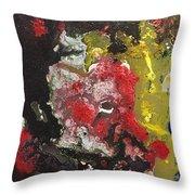 Acrylic Abstract 15-v.vvv Throw Pillow