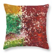 Acrylic Abstract 15-x.x.xx Throw Pillow