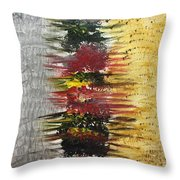 Acrylic Abstract Vertical 15-y.yyy Throw Pillow