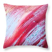 Acrylic Abstract On Canvas 6 Throw Pillow