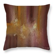 Acrylic Abstract Painting Clouds Throw Pillow