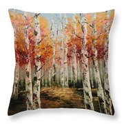 Acrylic Msc 096 Throw Pillow