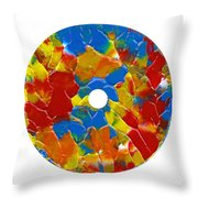 Acrylic  On  Cd  One Throw Pillow