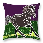 Acrylic Painted Horse On Display Fineart By Navinjoshi At Fineartamerica.com For The Fans Of Horses Throw Pillow