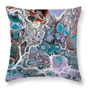 Acrylic Pour #10 Throw Pillow