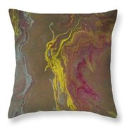 Acrylic Pour 2855 Throw Pillow by Sonya Wilson
