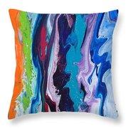 Acrylic Pouring Throw Pillow